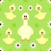 Seamless background with goose — Stock vektor