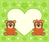 Pozadí s medvědy kreslený — Stock vektor