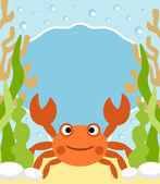 Background sea with crab — Stock Vector