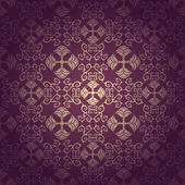 Seamless floral baroque purple background — Stock Vector