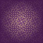 Floral baroque purple background vector — Stock Vector