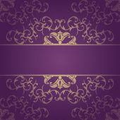 Purple vector baroque flowers background — Stock Vector