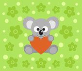 Background with koala cartoon — Stock Vector