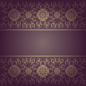 Baroque background floral — Stock Vector
