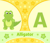 The English alphabet A — Stock Vector