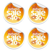 Sale autumn stickers — Stock Vector
