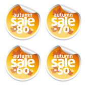 Autumn sale stickers — Stock Vector