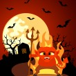 Halloween background with Devil — Stock Vector #32196405