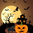 Halloween background with Pumpkin — Stock Vector #32196679