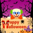 Halloween background with Clown vector — Stock Vector