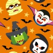 Stock Vector: Seamless halloween background vector