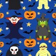 Seamless halloween vector background — Vector de stock