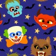 Vector seamless halloween background — Stock vektor