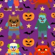 Vector halloween background seamless — Vector de stock