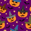Seamless halloween background  — Stockvectorbeeld