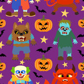 Vector halloween background seamless — Stock Vector