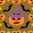 Seamless halloween background with Pumpkin — стоковый вектор #32866591
