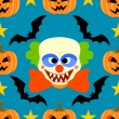 Seamless halloween background with Clown — Stock Vector #32866667