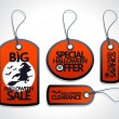 Red Sale Halloween Tags Set — Stock Vector #33141707
