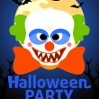 Stock Vector: Halloween Party banner with Clown