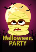 Halloween Party banner with Mummy — Vecteur