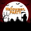 Halloween Party background red — Stock Vector #33435571