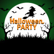Stock Vector: Halloween Party background green