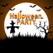 Halloween Party background orange — Vecteur #33435635