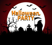 Halloween Party background red — Wektor stockowy