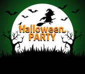 Halloween Party background green — Stock Vector
