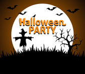 Halloween Party background orange — Wektor stockowy