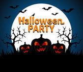 Halloween Party background blue — Stockvektor