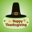 Thanksgiving day background with Pilgrim hat — Stock Vector