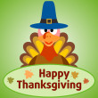 Thanksgiving day background with turkey — Stock Vector