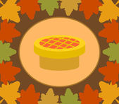 Autumn Thanksgiving Day background with pie — Stock Vector