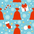 New Year seamless background , bag with gifts — 图库矢量图片