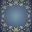 New Year background with snowflake ,blue — Stock Vector