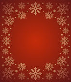 New Year background with snowflake ,red — Stock Vector