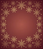 Red New Year background with snowflake — Stock vektor