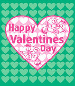 Valentines day background ,green — Stock Vector
