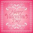 Pink Happy Valentines day background — Stock Vector