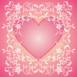 Pink Valentines day background with flowers — Stock Vector