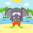 Summer  background with elephant — Stock Vector #48725783