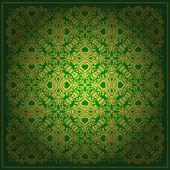 Abstract green vector baroque background — Stock Vector