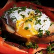 Poached egg — Stock Photo