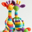 Rainbow crochet giraffe — Stock Photo #21080257