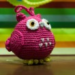 Pink crochet owl — Stock Photo #35275011