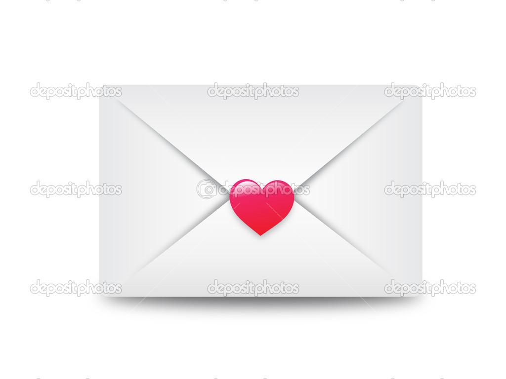 Enveloppe Courrier Lectronique Scell Avec Coeur Image