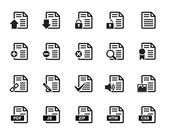 Documents Icons Vector — Stock Vector