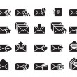 Stock vektor: Email Icons Vector
